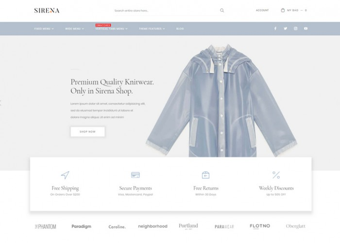 Sirena – Premium Responsive MultiPurpose Magento 2 Theme