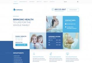 Sirona – Premium Responsive Medical & Health WordPress Theme