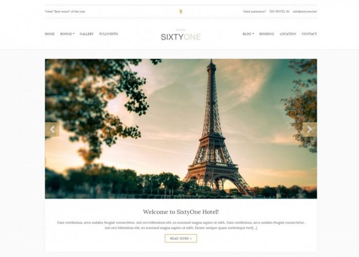 SixtyOne – Premium Responsive Hotel HTML5 Template