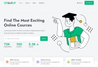 SkillUp – Premium Responsive Online Education HTML5 Template