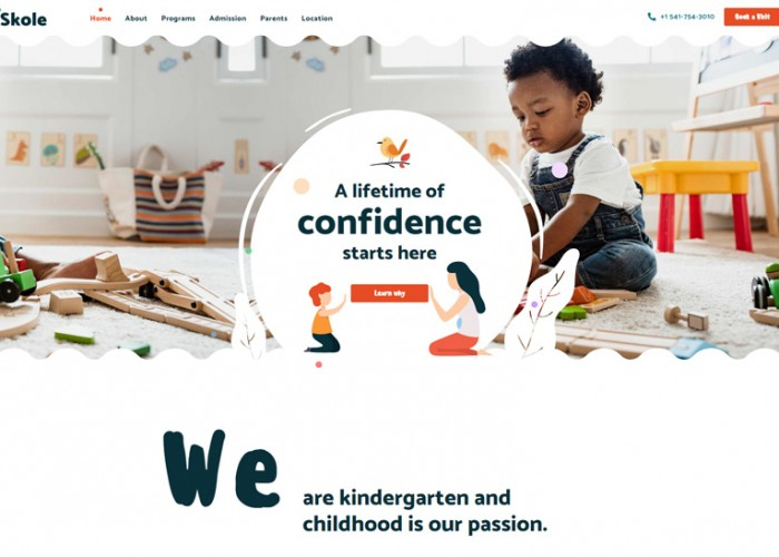 Skole – Premium Responsive School Kindergarten WordPress Theme