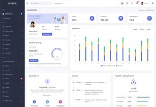 Skote – Premium Responsive Angular 9 Dashboard HTML5 Template