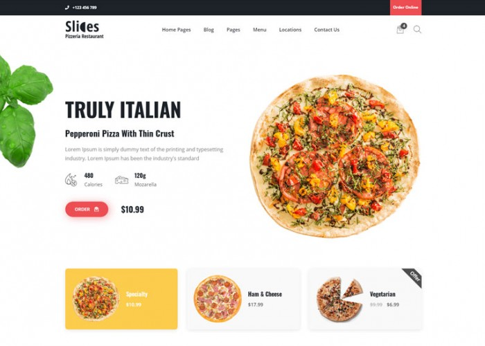 Slices – Premium Responsive Pizza Restaurant HTML5 Template