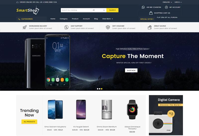 SmartShop - Premium Responsive Electronics Prestashop 1.7 Theme