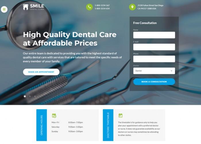 Smile – Premium Responsive Dentistry HTML5 Template