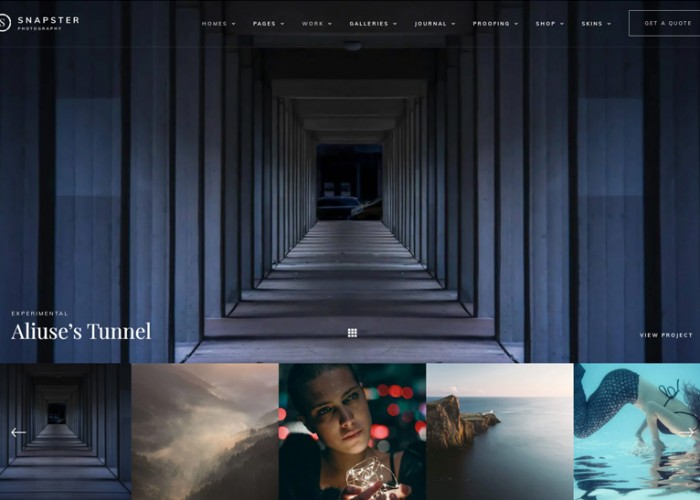 Snapster – Premium Responsive Photography WordPress Theme