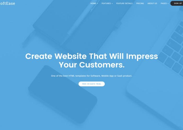 SoftEase – Premium Responsive Multipurpose Software / SaaS Product HTML5 Template