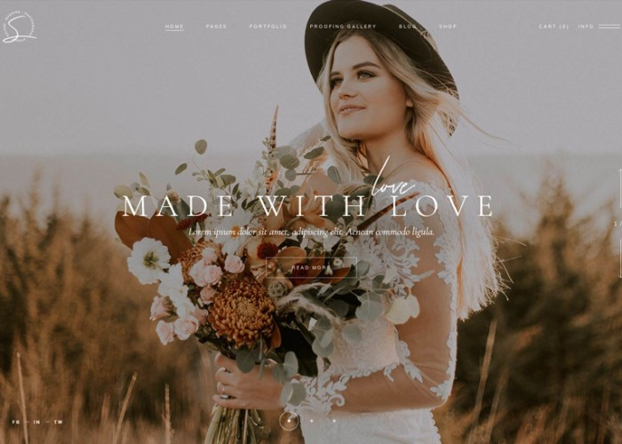 Solene – Premium Responsive Wedding Photography WordPress Theme