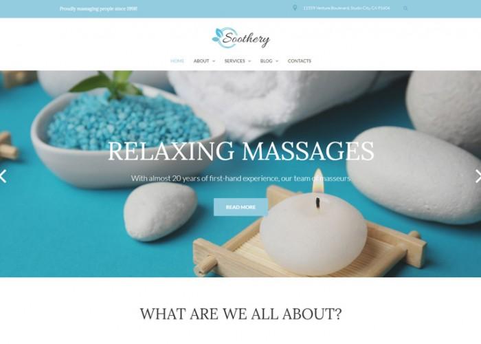 Soothery – Premium Responsive Massage Salon WordPress Theme