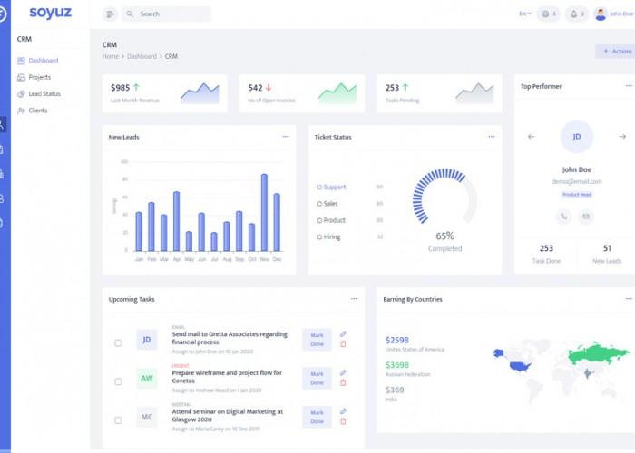 Soyuz – Premium Responsive Admin Dashboard HTML5 Template