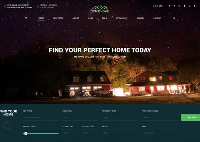 Space Home – Premium Responsive Real Estate WordPress Theme