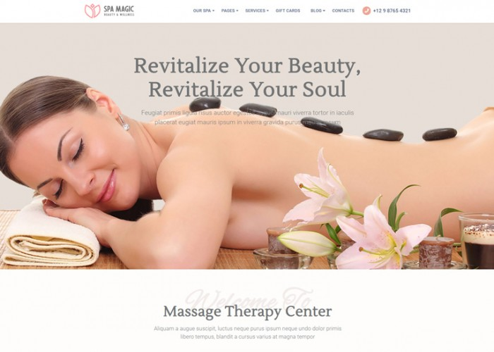 SpaMagic – Premium Responsive Beauty Spa Salon HTML5 Template