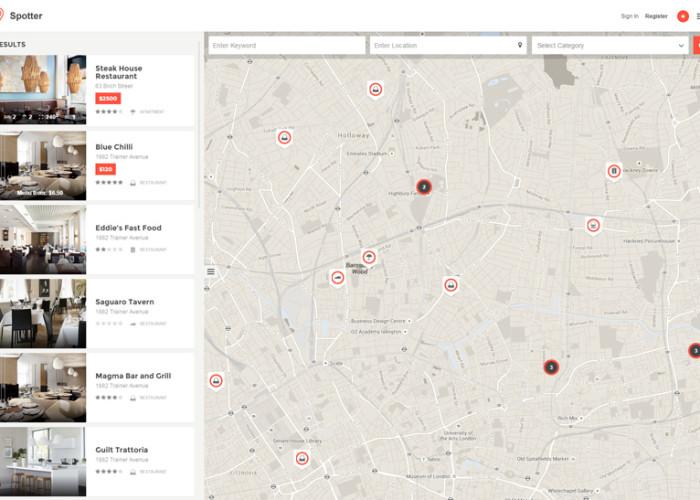 Spotter – Premium Responsive Directory HTML5 Template