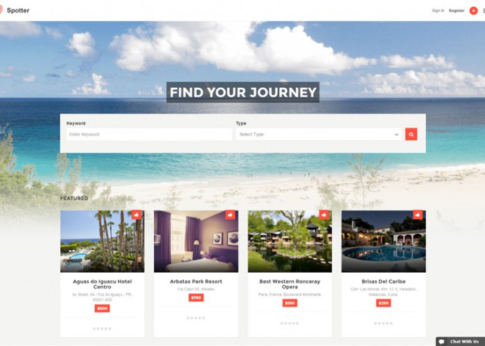 Spotter – Premium Responisve Directory Listing WordPress Theme