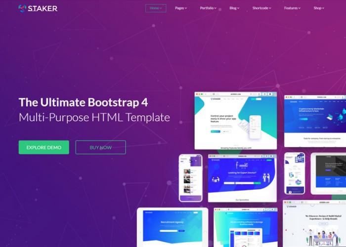 Staker – Premium Responsive MultiPurpose HTML5 Template