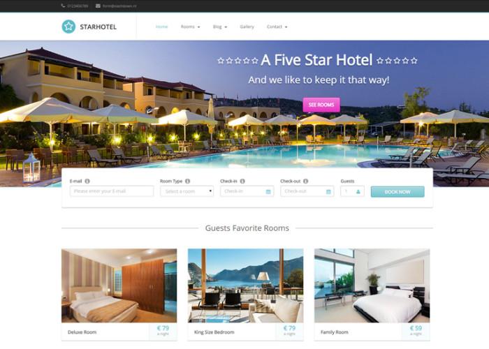 Starhotel – Premium Responsive Hotel WordPress Theme