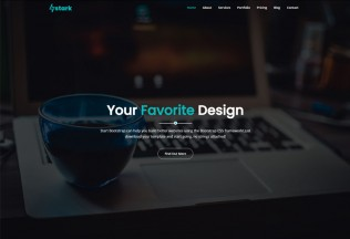 Stark – Premium Responsive One Page Business HTML5 Template