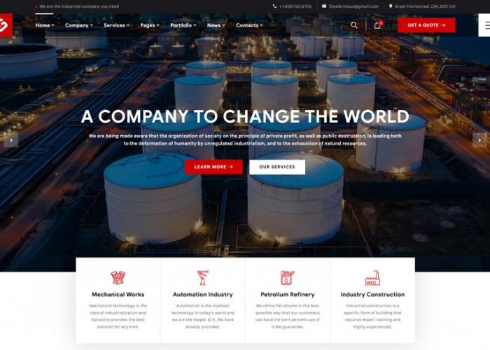 Steeler – Premium Responsive Industrial Manufacturing WordPress Theme