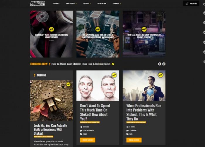 Stoked! – Premium Responsive Irreverent Viral Magazine/News WordPress Theme