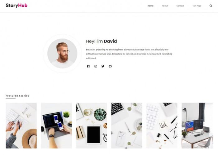 StoryHub – Premium Responsive React Gatsby Blog HTML5 Template