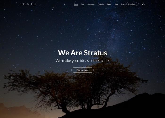 Stratus – Premium Responsive App, SaaS & Product Showcase WordPress Theme