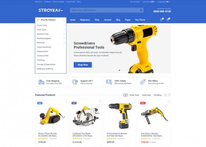 Stroyka – Premium Responsive Angular 9 eCommerce HTML5 Template