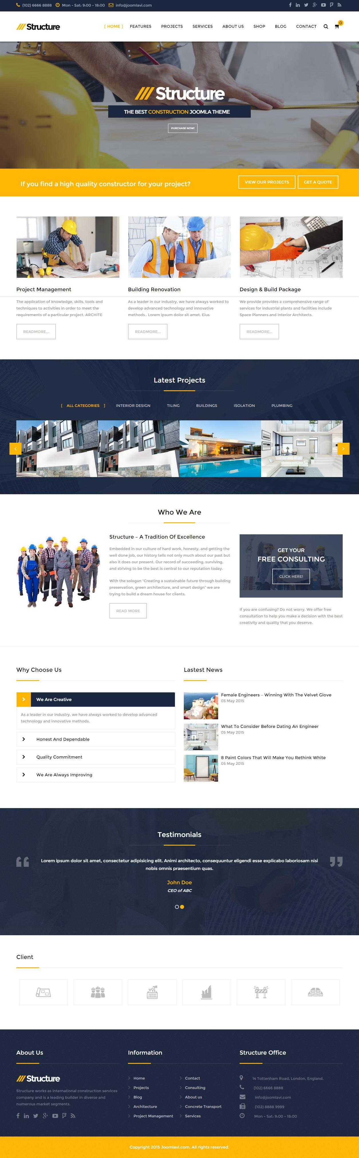 30 best joomla business templates 2017 responsive miracle structure joomla business templates flashek Images