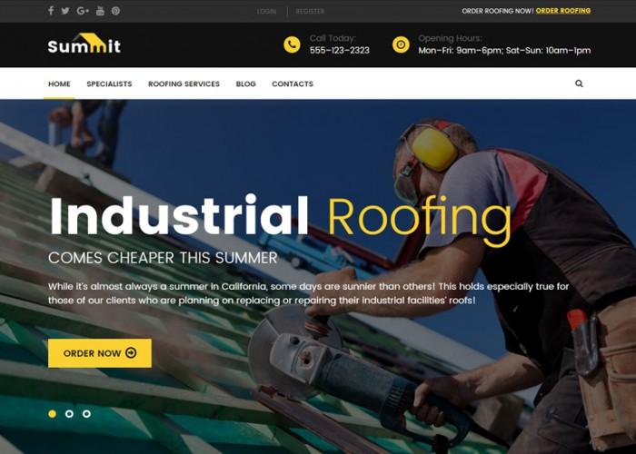 Summit – Premium Responsive Roofing WordPress Theme