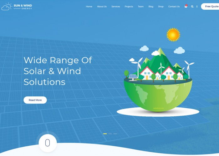 Sun & Wind – Premium Responsive Solar Energy HTML5 Template