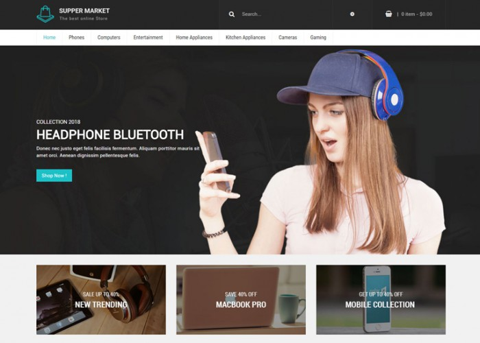 SuperMarket – Premium Responsive Shopping Prestashop 1.7 Theme