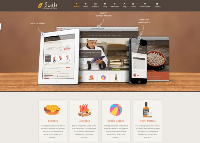 Sushi – Premium Responsive Restaurant WordPress Theme