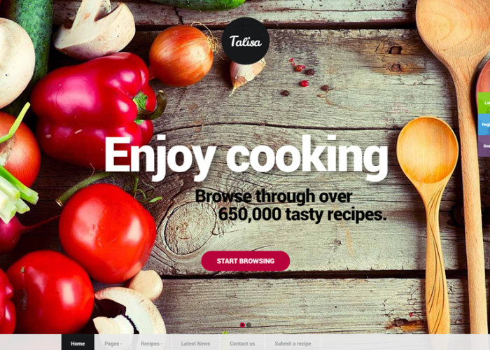 Talisa – Premium Responsive Food Recipes WordPress Theme