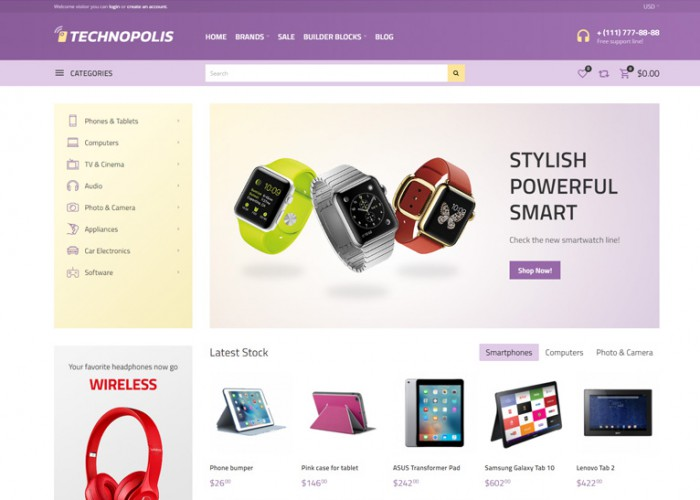 Technopolis – Premium Responisve Electronics Store OpenCart Theme
