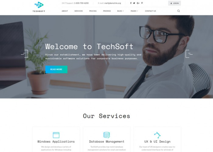 TechSoft – Premium Responsive Business Software HTML5 Template