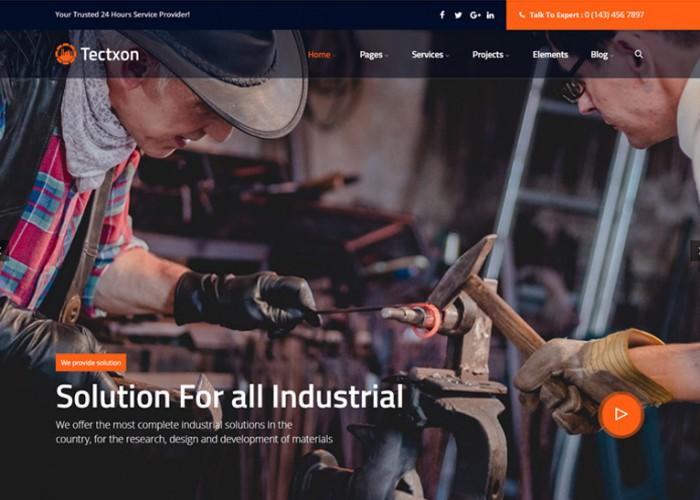 Tectxon – Premium Responsive Industry & Factory WordPress Theme