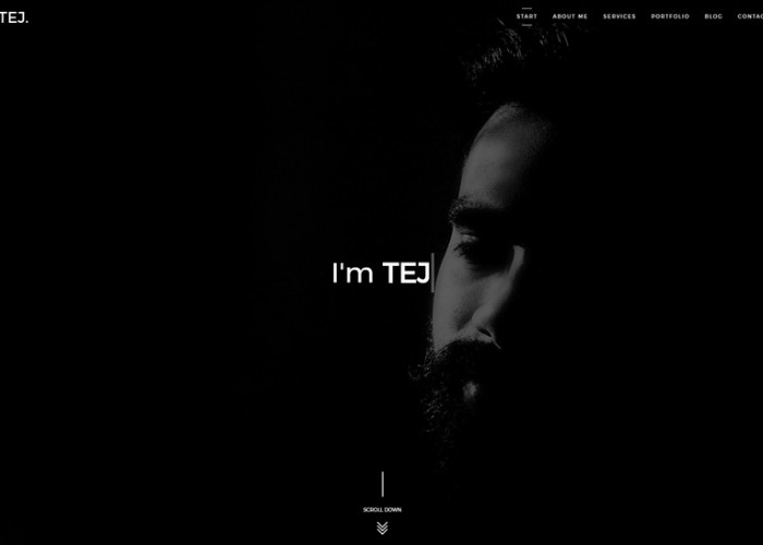 TEJ – Premium Responsive Personal Portfolio HTML5 Template