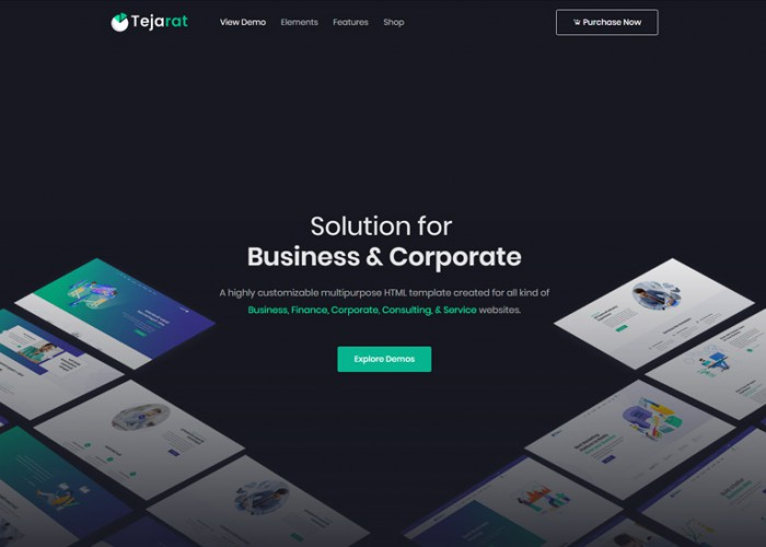 Tejarat – Premium Responsive Business & Corporate HTML5 Template