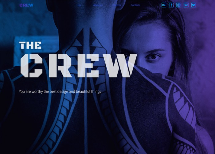 The Crew – Premium Responsive Landing Page Muse Template