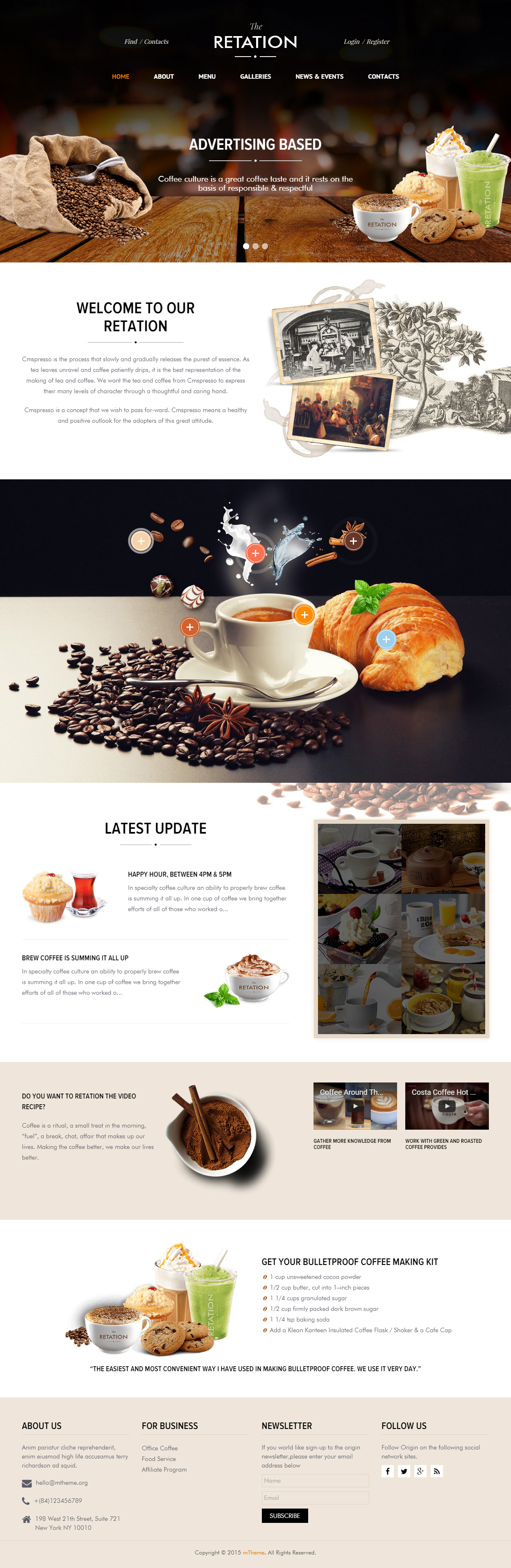 40 Best Cafe and Restaurant Website Templates in 2017 - Responsive ...