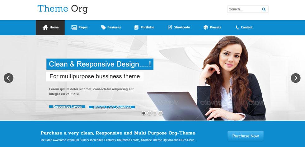 Theme org joomla premium responsive template free demo handpicked premium responsive website themes and templates homepage maxwellsz