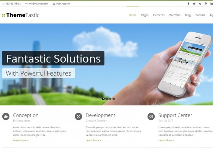 ThemeTastic – Premium Responsive Flat Drupal Theme
