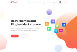 Tijarah – Premium Responsive Digital Marketplace WordPress Theme