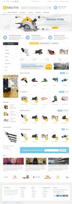Best Responsive OpenCart Tools and Equipment Themes in 2015