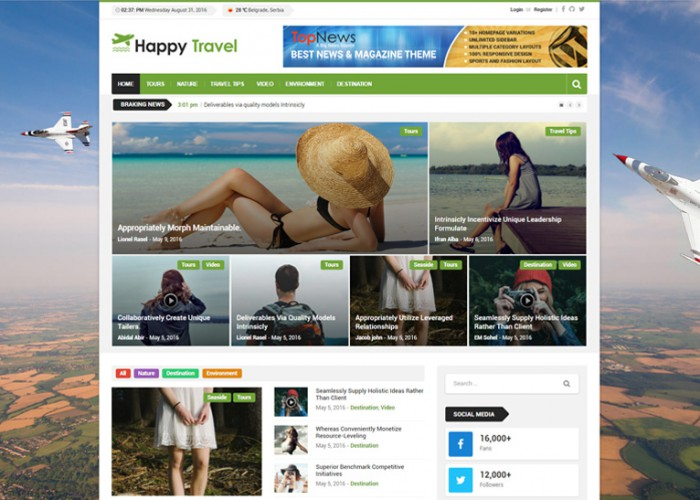 Top News – Premium Repsponsive News/Magazine WordPress Theme