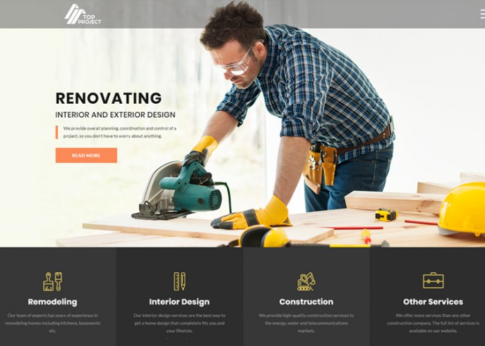 Top Project – Premium Responsive Construction Company HTML5 Template