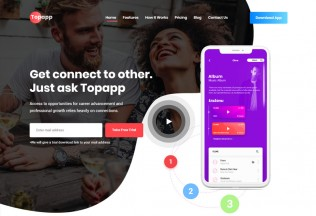Topapp – Premium Responsive App Landing Page HTML5 Template