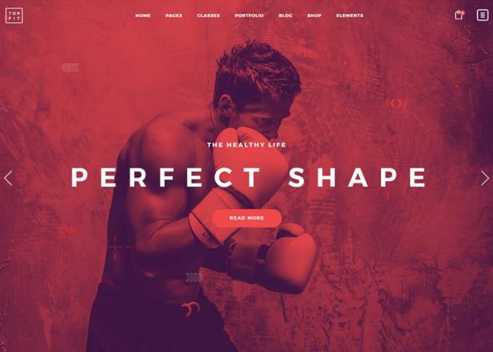 TopFit – Premium Responsive Fitness Gym and Lifestyle WordPRess Theme