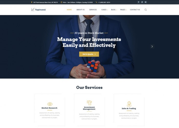 TopInvest – Premium Responsive Investment Company HTML5 Template