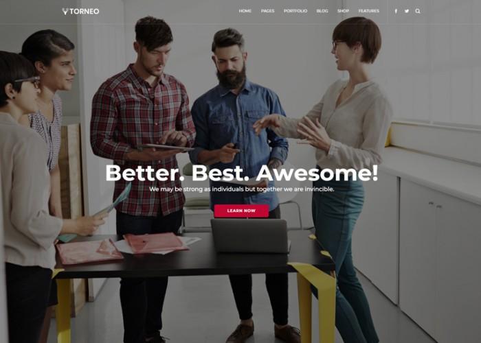 Torneo – Premium Responsive Agency MultiPurpose HTML5 Template