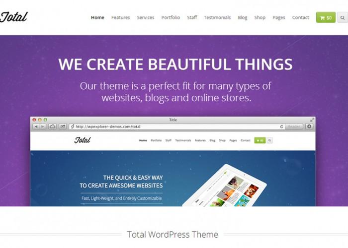 Total – Premium Responsive Parallax MultiPurpose WordPress Theme